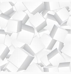 Carton 3d box seamless pattern background vector
