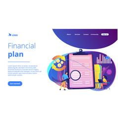 Cash flow statement concept landing page vector