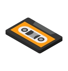 Cassette isometric 3d icon vector image