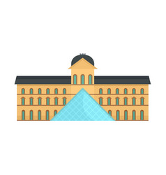 Central paris building museum icon flat style vector
