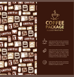 coffee menu or package concept infographics banner vector image