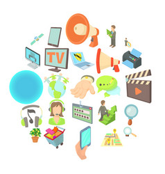 development of applications icons set vector image