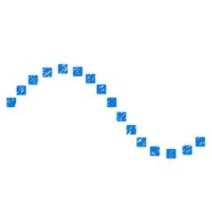 Dotted Function Line Grainy Texture Icon vector