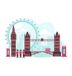 england travel landmark vector image