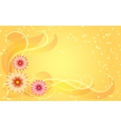 Floral ornament on yellow background vector image