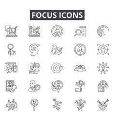focus line icons for web and mobile design vector image