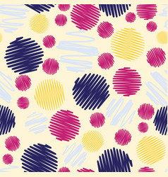 fun colorful scribble dots seamless pattern vector image