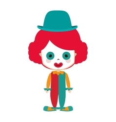 Funny small clown with hat vector image