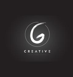 G brush letter logo design artistic handwritten vector