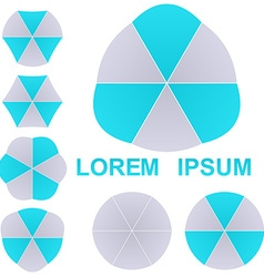 Geometric Logo Set vector