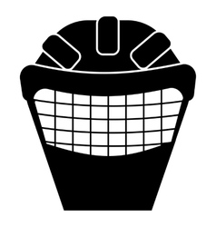 Goalkeeper mask icon simple style vector image