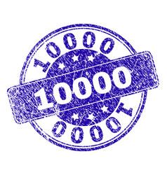 Grunge textured 10000 stamp seal vector
