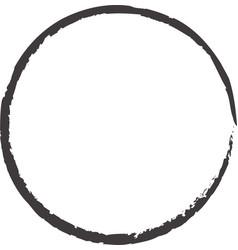 Hand drawn circles sketch frame vector
