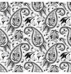 Hand drawn paisley seamless pattern vector