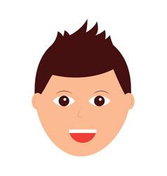 happy man icon image vector image