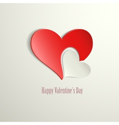 Happy Valentines Day Hearts vector image