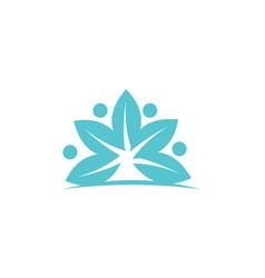 Health life spa and yoga vector