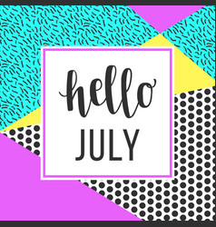 hello july sale banner vector image