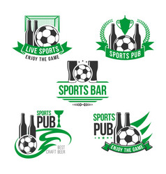 Icons for soccer or football sports bar vector