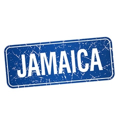 Jamaica blue stamp isolated on white background vector