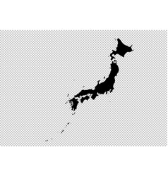 japan map - high detailed black map with vector image