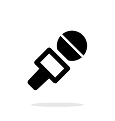 Journalist microphone icon on white background vector image