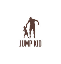 jump kid with father vector image