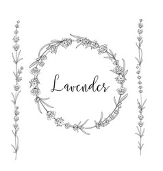 Lavender garland for your text presentation vector