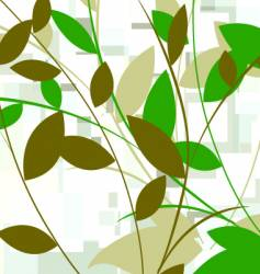 Leafy background vector