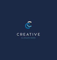 Letter cc creative business logo design vector
