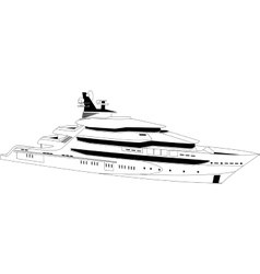 Luxury yacht vector