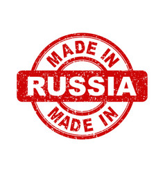 made in russia red stamp on white background vector image