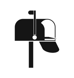 Mail box icon simple style vector image