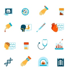 Medical tests icons flat vector