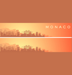 Monaco beautiful skyline scenery banner vector