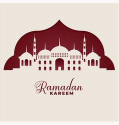 Mosque silhouettes ramadan kareem islamic vector