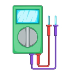 Multimeter icon cartoon style vector