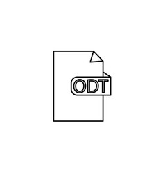 odt format document icon vector image