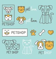 Pet logo design elements vector
