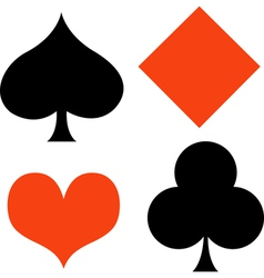 Poker Card Suites vector image