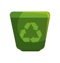 recycle waste with arrows vector image