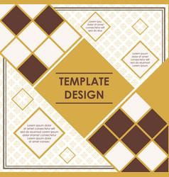 rhombus template design vector image