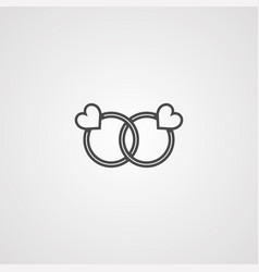 rings icon sign symbol vector image