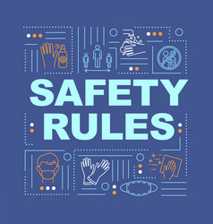 Safety rules word concepts banner vector