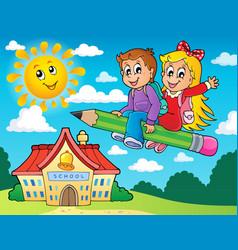 School kids theme image 5 vector