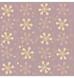 seamless beautiful flower pattern vector image vector image
