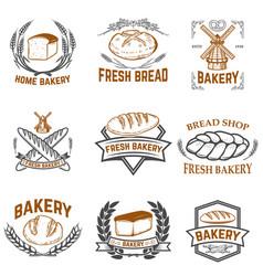 set bakery labels bread shop fresh bread vector image
