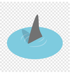 Shark in the sea isometric icon vector
