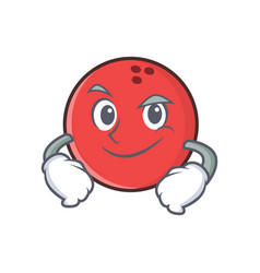 Smirking bowling ball character cartoon vector