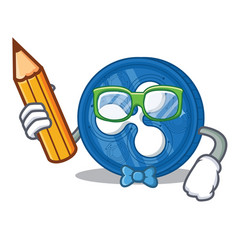 Student ripple coin character cartoon vector